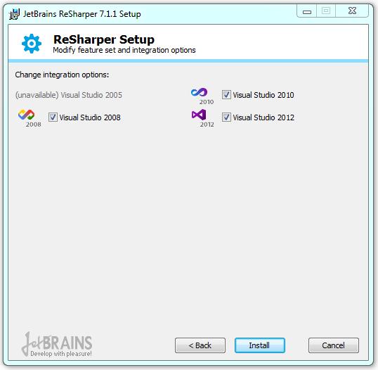 Enabling already installed ReSharper for newly installed