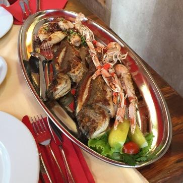 Fish platter at Veli Joze