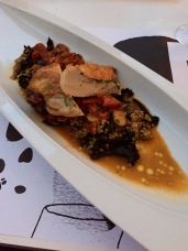 Chicken with Ratatouille at Restaurant L in Hotel Lone