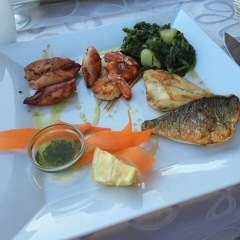 Grilled fish platter at La Puntulina