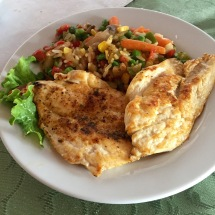 Grilled chicken breast with rice