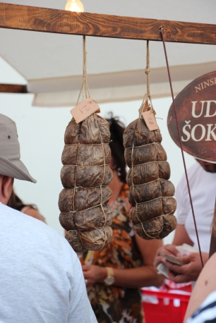 """šokol"" a dried meat product made from neck of pork conserved in pure sea salt and seasoning"