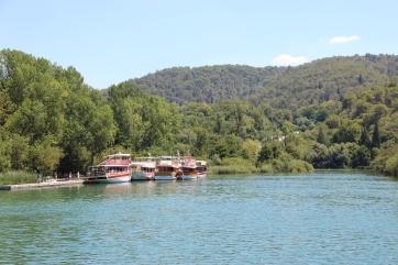 Boat ride to Krka