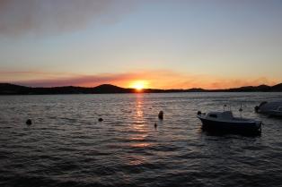Sunset in Sibenik