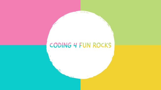 coding 4 fun rocks logo